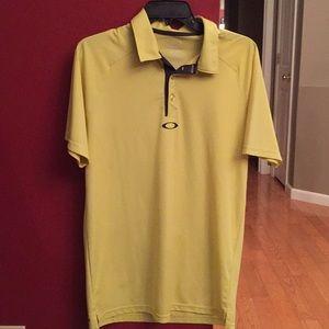Yellow Oakley polo